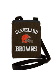 Cleveland Browns Womens Game Day Pouch Purse - Brown