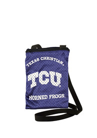 TCU Horned Frogs Womens Game Day Pouch Purse - Purple