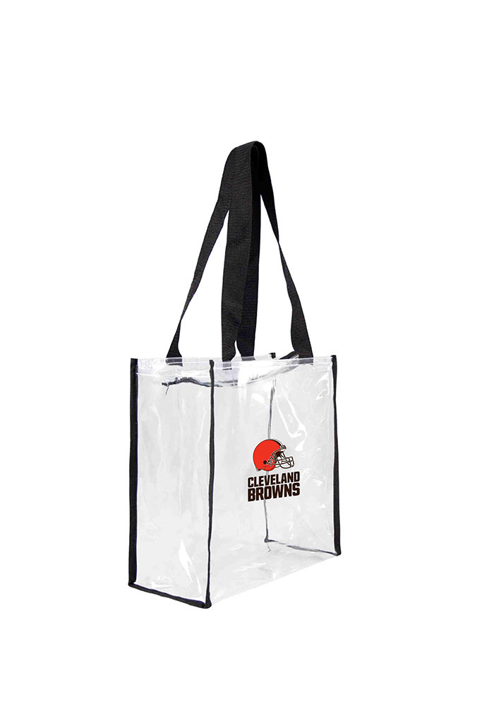 Cleveland Browns White Stadium Approved 12 x 12 x 6 Clear Bag - Image 1