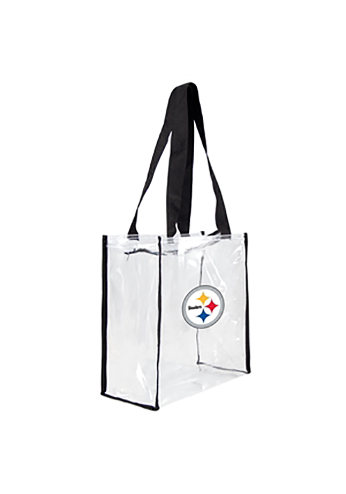 Pittsburgh Steelers White Stadium Approved 12 x 12 x 6 Clear Bag - Image 1