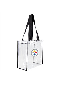 Pittsburgh Steelers Stadium Approved 12 x 12 x 6 Clear Bag - White