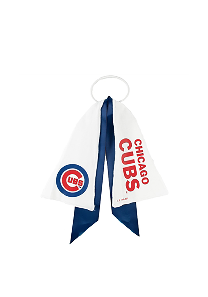Chicago Cubs Ponytail Holder Youth Hair Scrunchie - Image 1