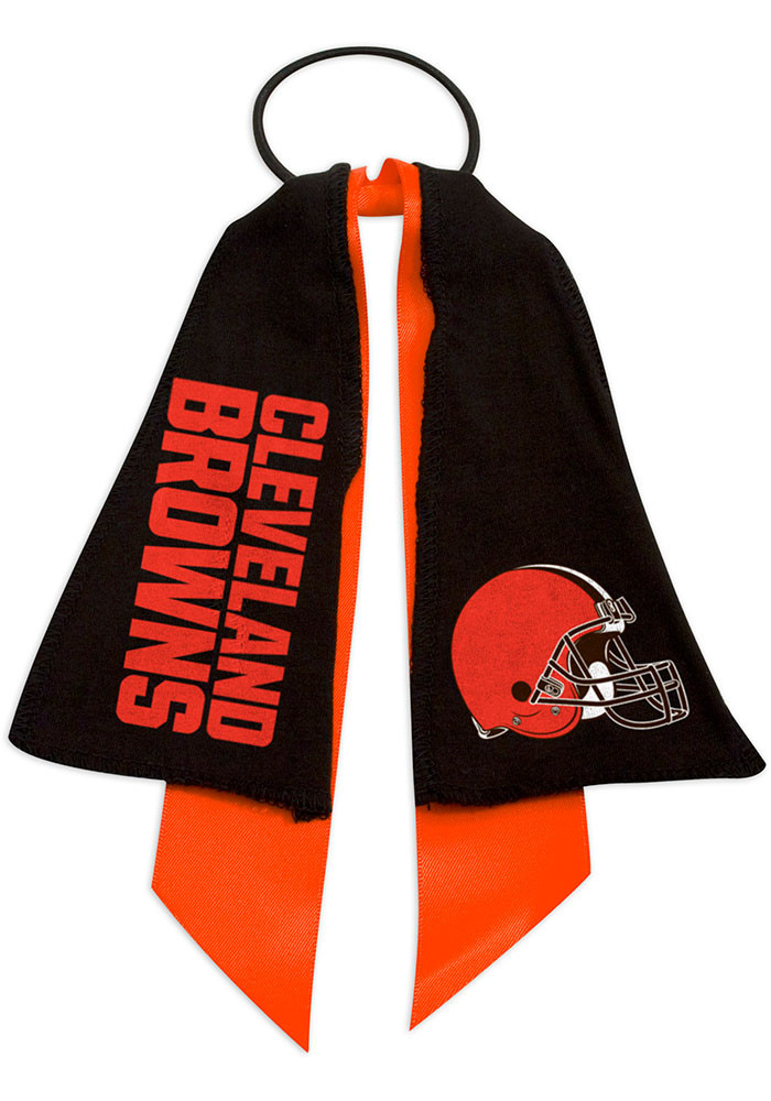 Cleveland Browns Ponytail Holder Youth Hair Scrunchie - Image 1