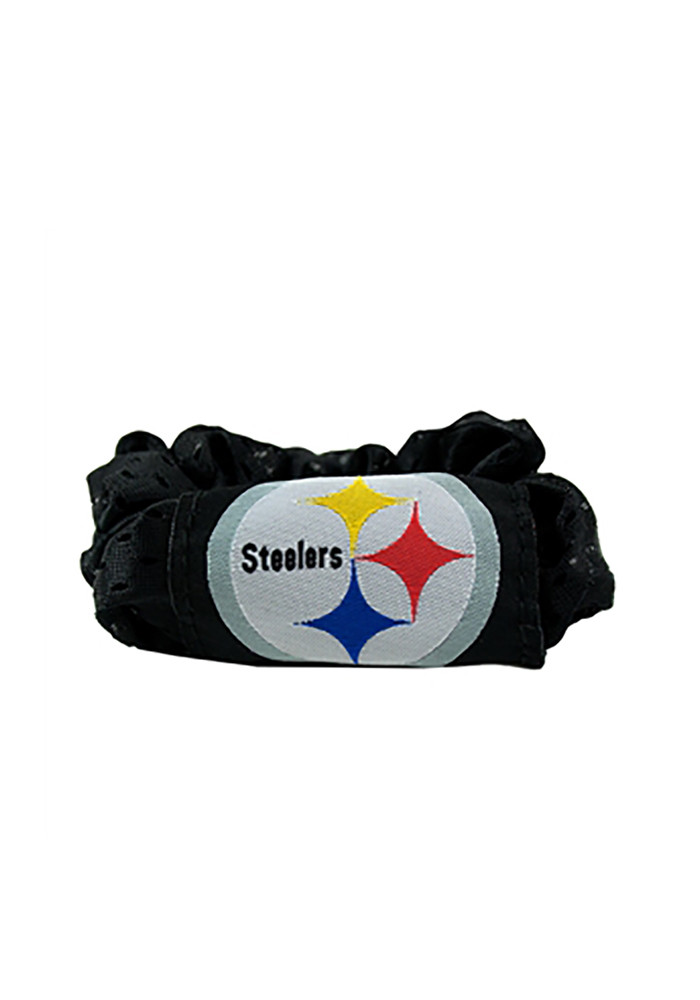 Pittsburgh Steelers Team Logo Youth Hair Scrunchie - Image 1