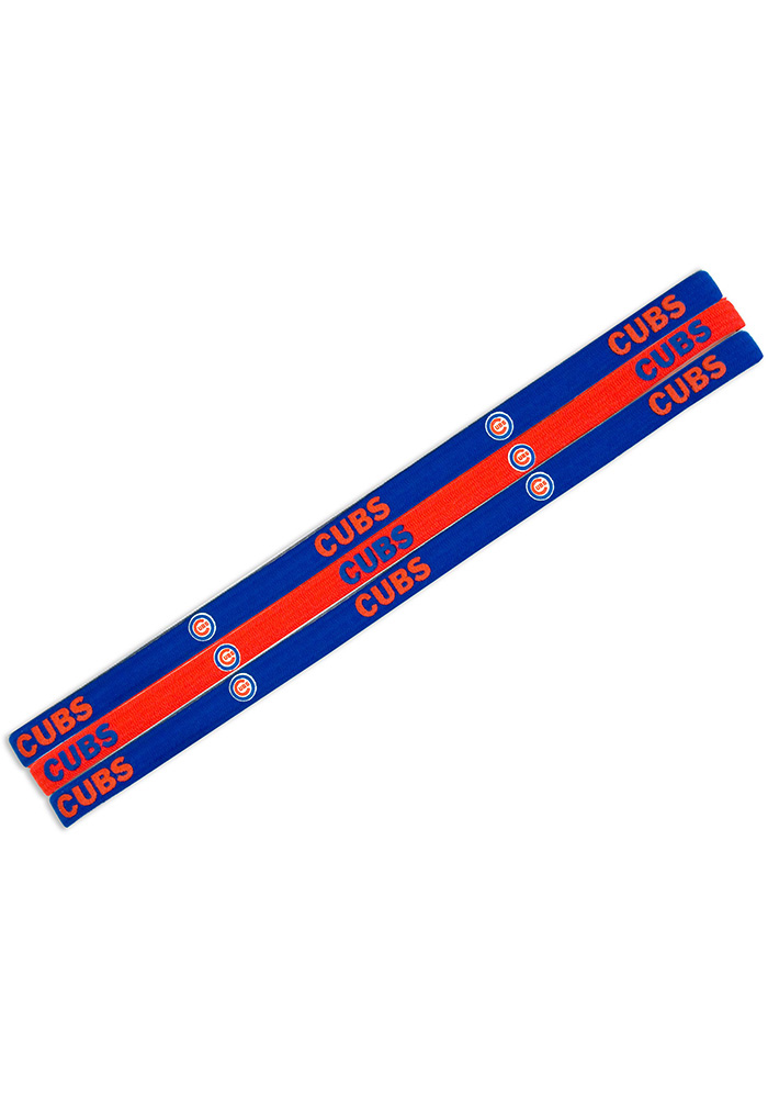Chicago Cubs Elastic 3 Pack Womens Headband - Image 1