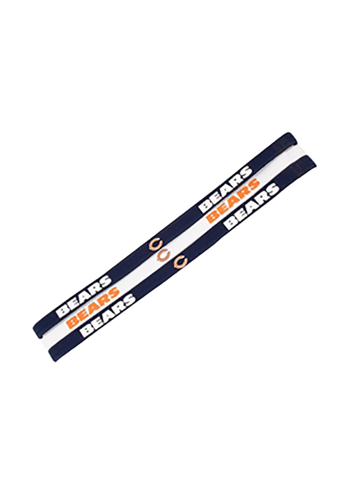 Chicago Bears Elastic 3 Pack Womens Headband - Image 1
