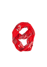 Chicago Bulls Womens Sheer Infinity Scarf - Red