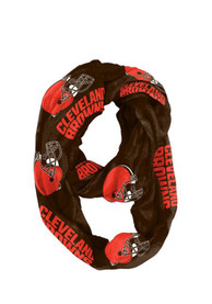 Cleveland Browns Womens Sheer Infinity Scarf - Brown