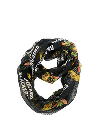 Chicago Blackhawks Womens Sheer Infinity Scarf - Black