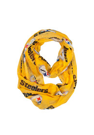 Pittsburgh Steelers Womens Sheer Infinity Scarf - Gold
