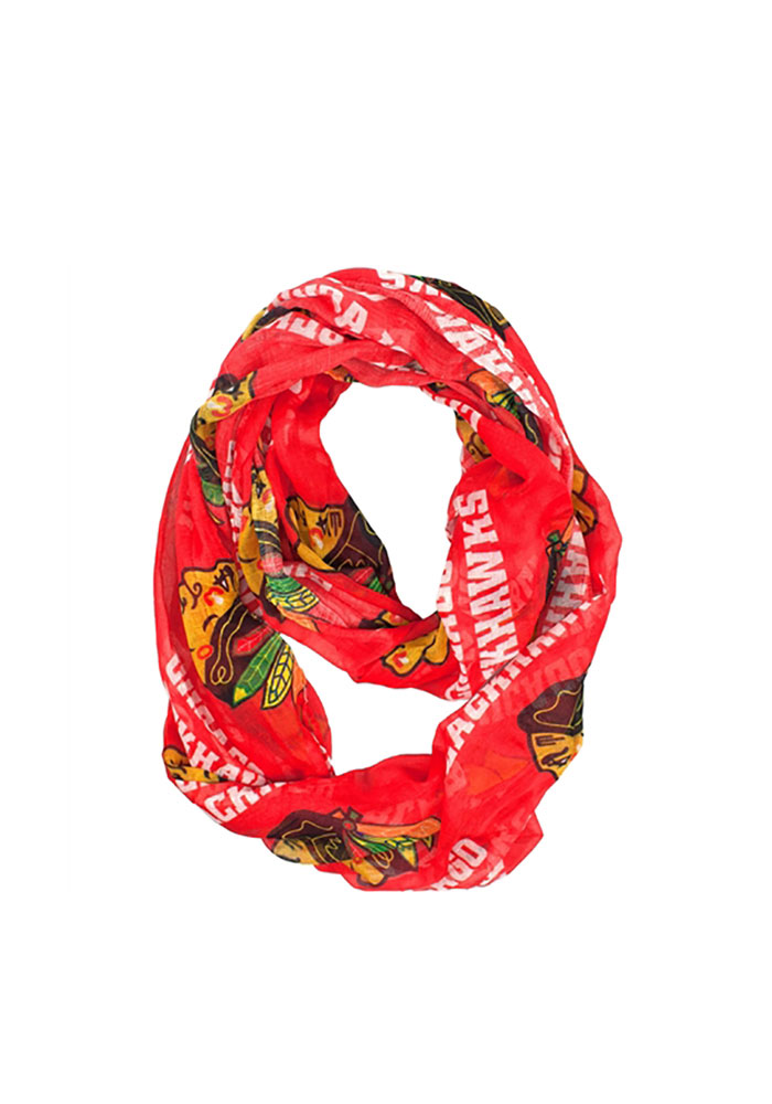 Chicago Blackhawks Womens Sheer Infinity Scarf - Red