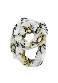 Pittsburgh Penguins Womens Sheer Infinity Scarf - White