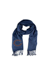 Chicago Bears Womens Pashi Crystal Logo Scarf - Navy Blue