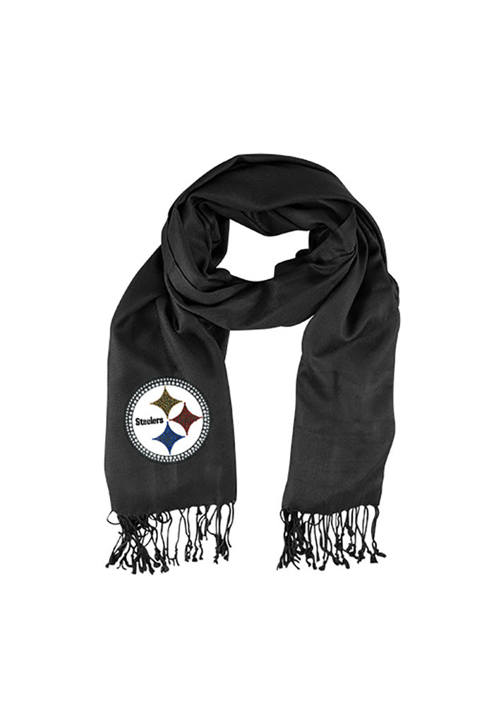 Pittsburgh Steelers Pashi Crystal Logo Womens Scarf - Image 1