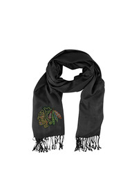 Chicago Blackhawks Womens Pashi Crystal Logo Scarf - Black