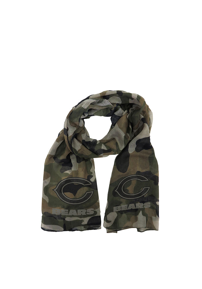 Chicago Bears Womens Camo Scarf - Green