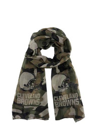 Cleveland Browns Womens Camo Scarf - Green