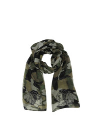 Chicago Blackhawks Womens Camo Scarf - Green