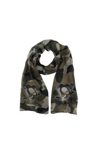Pittsburgh Penguins Womens Camo Scarf - Green
