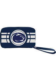 Penn State Nittany Lions Womens Ripple Zip Wallets - Navy Blue
