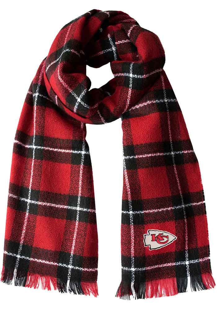 Kansas City Chiefs Plaid Womens Scarf - Image 1