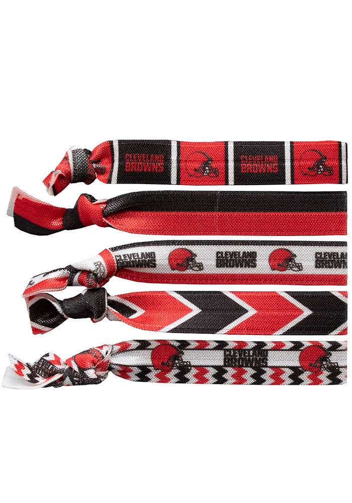 Cleveland Browns Knotted Kids Hair Ribbons - Image 1