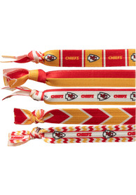 Kansas City Chiefs Kids Knotted Hair Ribbons - Red