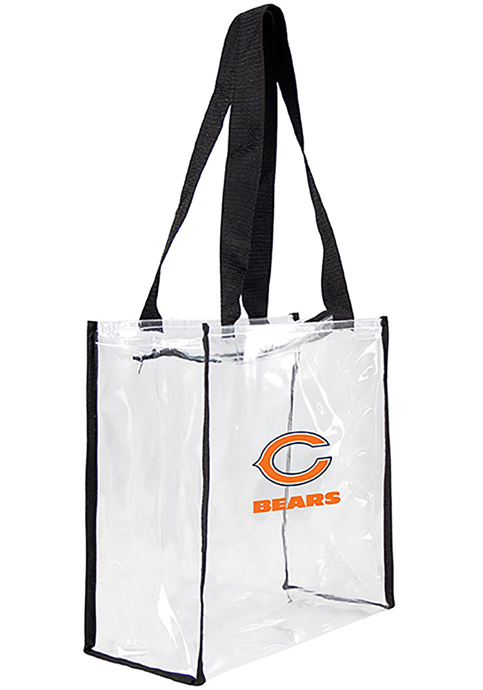 Chicago Bears White Stadium Approved Clear Bag - Image 1