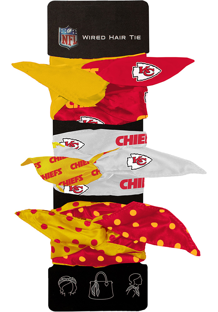 Kansas City Chiefs Wired Kids Hair Ribbons - Image 1