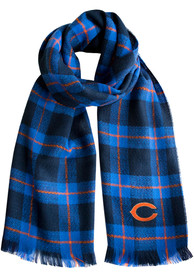 Chicago Bears Womens Plaid Blanket Scarf - Blue