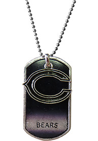 Chicago Bears Womens Dog Tag Necklace - Navy Blue