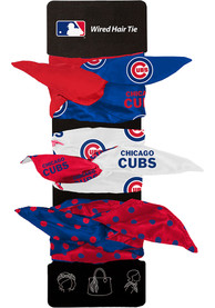 Chicago Cubs Kids Wired Hair Ribbons - Blue