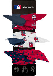 St Louis Cardinals Kids Wired Hair Ribbons - Red