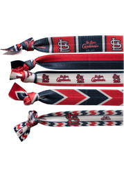 St Louis Cardinals Kids Knotted Hair Ribbons - Red