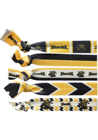 Wichita State Shockers Kids Knotted Hair Ribbons - Yellow