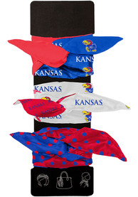 Kansas Jayhawks Kids Wired Hair Ribbons - Blue