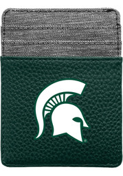 Michigan State Spartans Pebble Front Pocket Mens Bifold Wallet