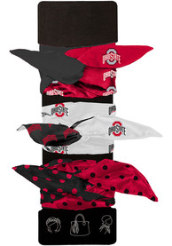 Ohio State Buckeyes Kids Wired Hair Ribbons - Red