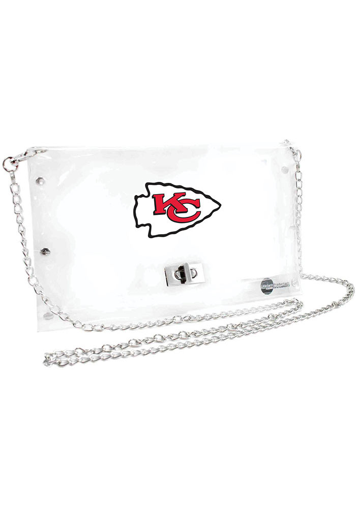 Kansas City Chiefs White Stadium approved Clear Bag - Image 1