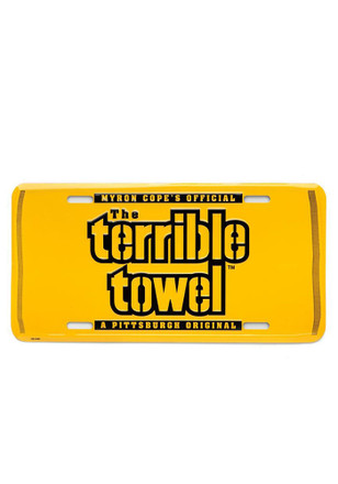 Pittsburgh Steelers Terrible Towel Car Accessory License Plate
