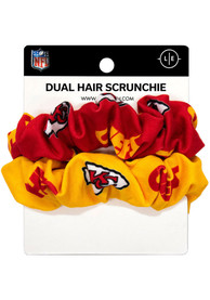 Kansas City Chiefs Womens Dual Hair Twist Hair Scrunchie - Red