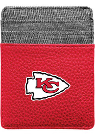 Kansas City Chiefs Pebble Front Pocket Bifold Wallet - Red