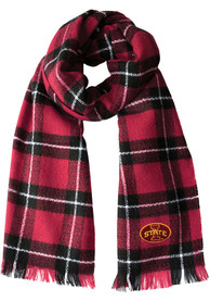 Iowa State Cyclones Womens Plaid Blanket Scarf - Red