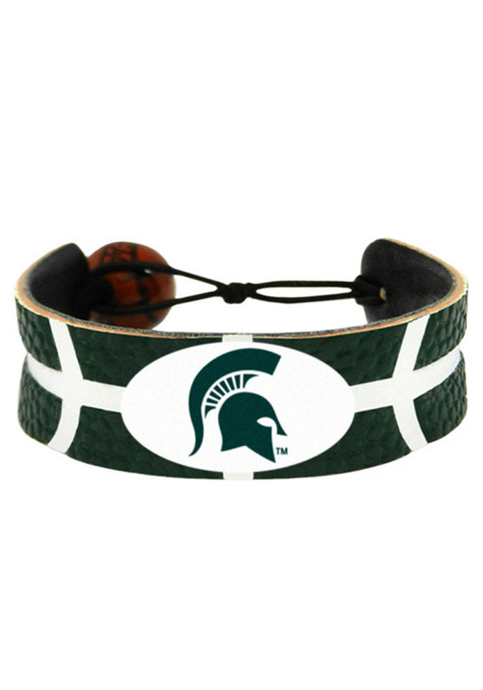 Michigan State Spartans Basketball Mens Bracelet - Image 1