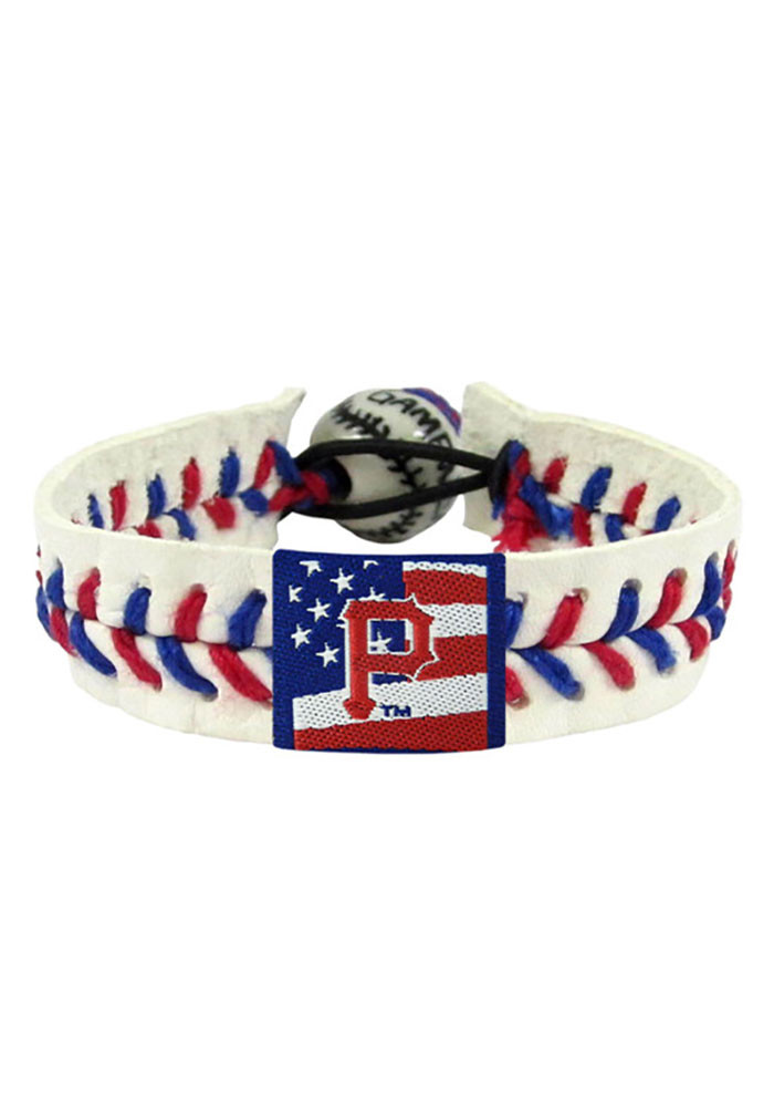 Pittsburgh Pirates Stars and Stripes Mens Bracelet - Image 1