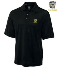 Cutter and Buck Fort Hays State Tigers Mens Black DryTec Championship Short Sleeve Polo Shirt