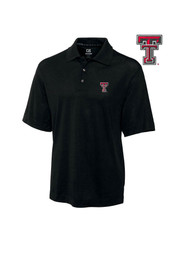 Cutter and Buck Texas Tech Mens Black DryTec Championship Short Sleeve Polo Shirt