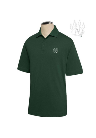 Northwest Mo State Bearcats Mens Green DryTec Championship Short Sleeve Polo Shirt