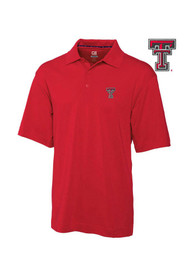 Cutter and Buck Texas Tech Red Raiders Red DryTec Championship Short Sleeve Polo Shirt