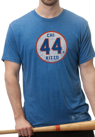 Anthony Rizzo Chicago Cubs Mens Blue Circle Player Tee